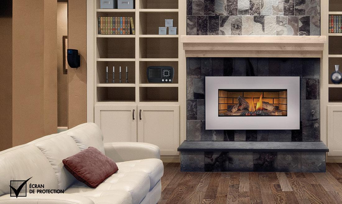 remplacer votre foyer au bois existant par un foyer au gaz encastrable. Black Bedroom Furniture Sets. Home Design Ideas